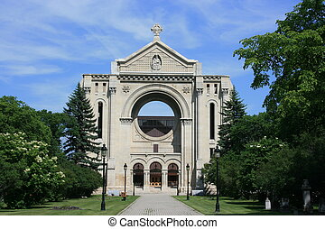 Historical Saint Boniface - Remains of historic Saint...