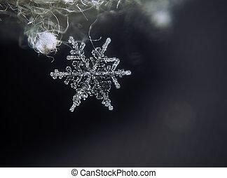 Snowflake falling down