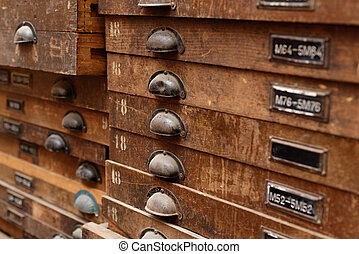Wooden cabinet with drawers - Backgrounds and textures: very...
