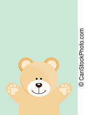 Teddy bear open arms - Scalable vectorial image representing...
