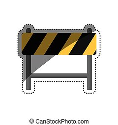 Under construction barrier icon vector illustration graphic...