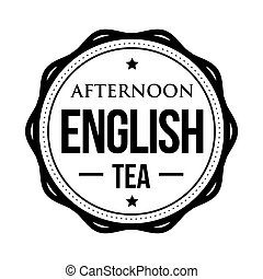 Afternoon English tea vintage stamp vector