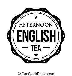 Afternoon English tea vintage stamp vector