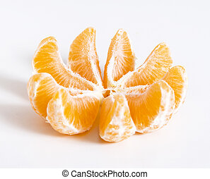 Tangerine or clementine cut at pieces