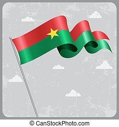 Burkina Faso wavy flag. Vector illustration. - Burkina Faso...