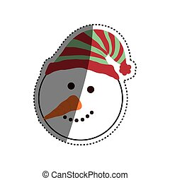 Christmas snowman cartoon