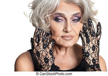beautiful mature woman close up