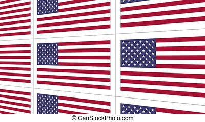Postcards with United States national flag - Sheet of...