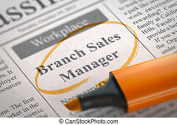 Branch Sales Manager Wanted. 3D. - Branch Sales Manager....