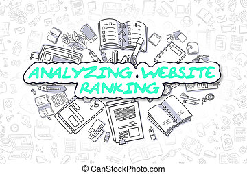 Analyzing Website Ranking - Business Concept. - Business...