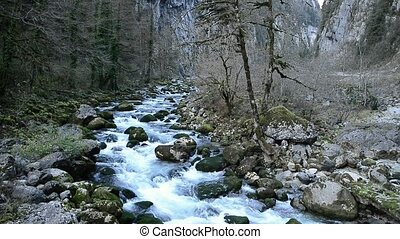Water ripples. Surface of the water. - Mountain streams....