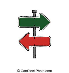 Road sign isolated icon vector illustration graphic design