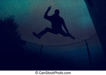 Below - Trampoline from below