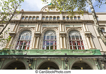Liceo Theater in Barcelona - Barcelona, Spain - August 10,...