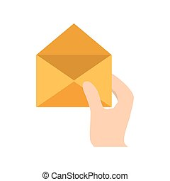 envelope in the hand related icon, vector illustation image
