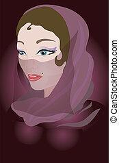 Women - Woman in a scarf.