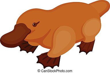 Platypus - Cute icon of platypus. Perfect card or any kind...