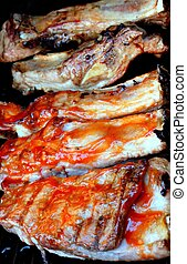 gilled ribs - BBq ribs for the party