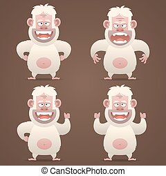 Bigfoot character in different poses - Illustration, Bigfoot...