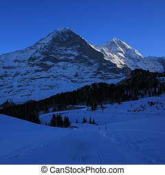 Famous Eiger north face, Switzerland - Famous Eiger north...