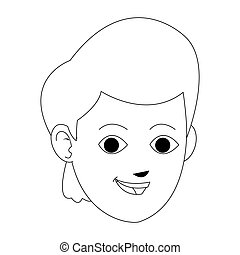 young guy cartoon icon
