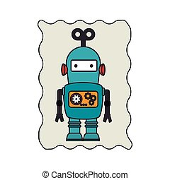 electronic robot card icon