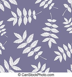 Pattern from the leaves of mountain ash. - Seamless...