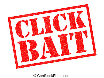CLICK BAIT Rubber Stamp - CLICK BAIT red Rubber Stamp over a...