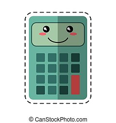 calculator mathematics accounting cut line vector...