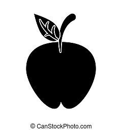 apple fruit nutrition diet pictogram