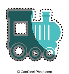 baby train toy isolated icon vector illustration design