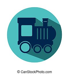 train kids toy icon