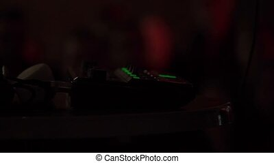 Dj beatbox deck mixer shot