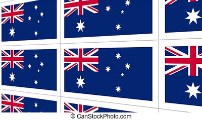 Postcards sheet with Australia national flag - Sheet of...