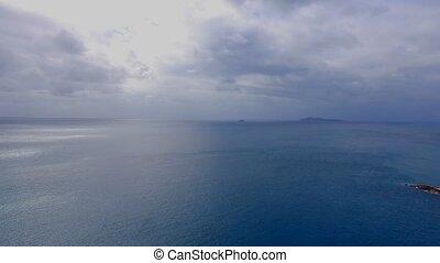 Aerial View Of Indian Ocean, Praslin Island, Seychelles 2