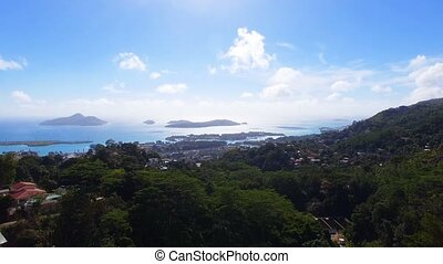 Aerial View from Of Mountains And Ocean from Sans Souci Viewpoint, Seychelles 1