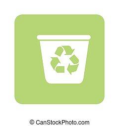 verde, reciclaje, contenedor, Plano de fondo, opaco
