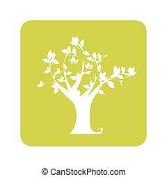 árbol, amarillo, Plano de fondo, opaco