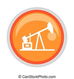 circular button with Oil extraction machine vector...