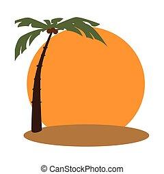 beach with palm frame