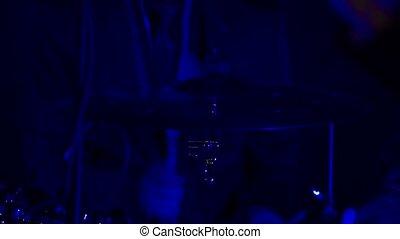 Drummer on concert