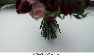Wedding bouquet closeup - Wedding bouquet close up shot
