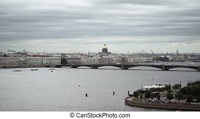 Saint-Petersburg view on river Neva shot