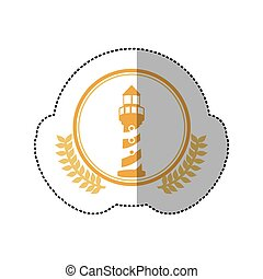 symbol orange lighthouse icon