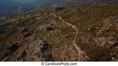 Aerial, Offroad At Cela, Portugal - Graded and stabilized...