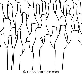 Background Bottle Vector - Bottle illustration.Glasses...