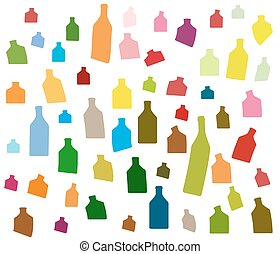 Background Bottle color Vector - Bottle illustration.Glasses...