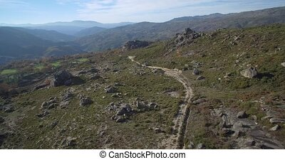 Aerial, Offroad With 4x4 At Cela, Portugal - Aerial, Offroad...