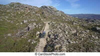 Aerial, Offroad With A 4x4 At Cela, Portugal - Aerial,...