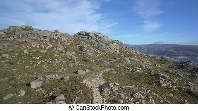Aerial, Offroad With A Jeep At Cela, Portugal - Native...
